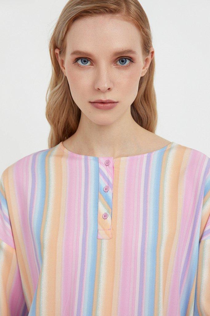 Блузка с полосатым принтом, Модель S21-32022, Фото №6