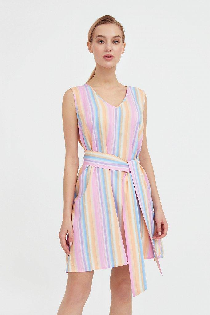 Платье-мини в полоску, Модель S21-32056, Фото №2