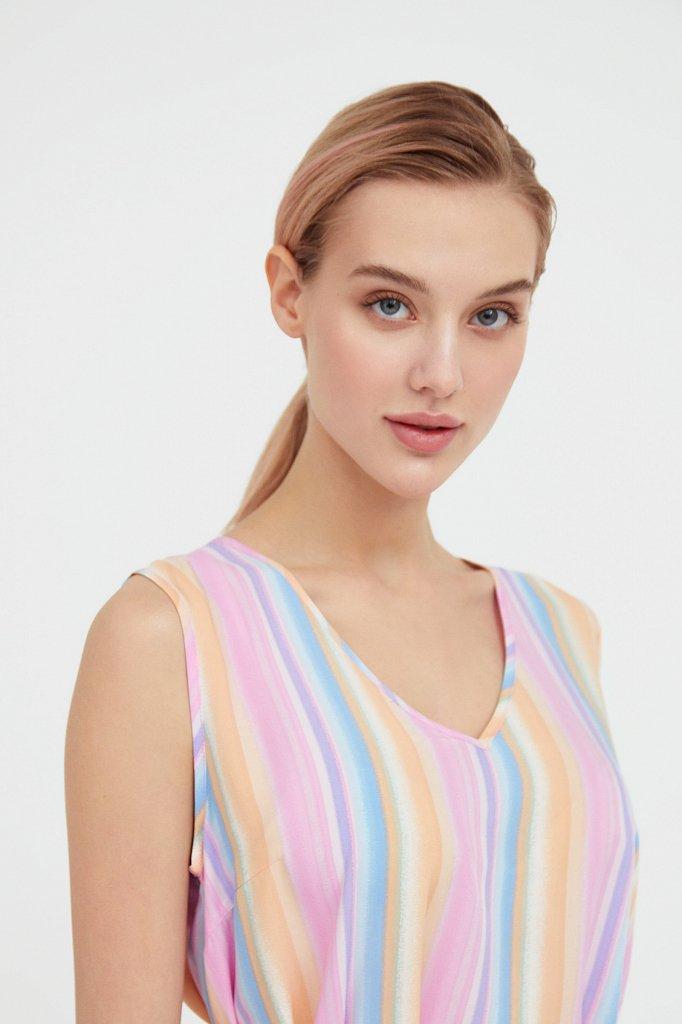 Платье-мини в полоску, Модель S21-32056, Фото №6