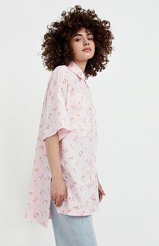 Рубашка оверсайз из хлопка S21-11019