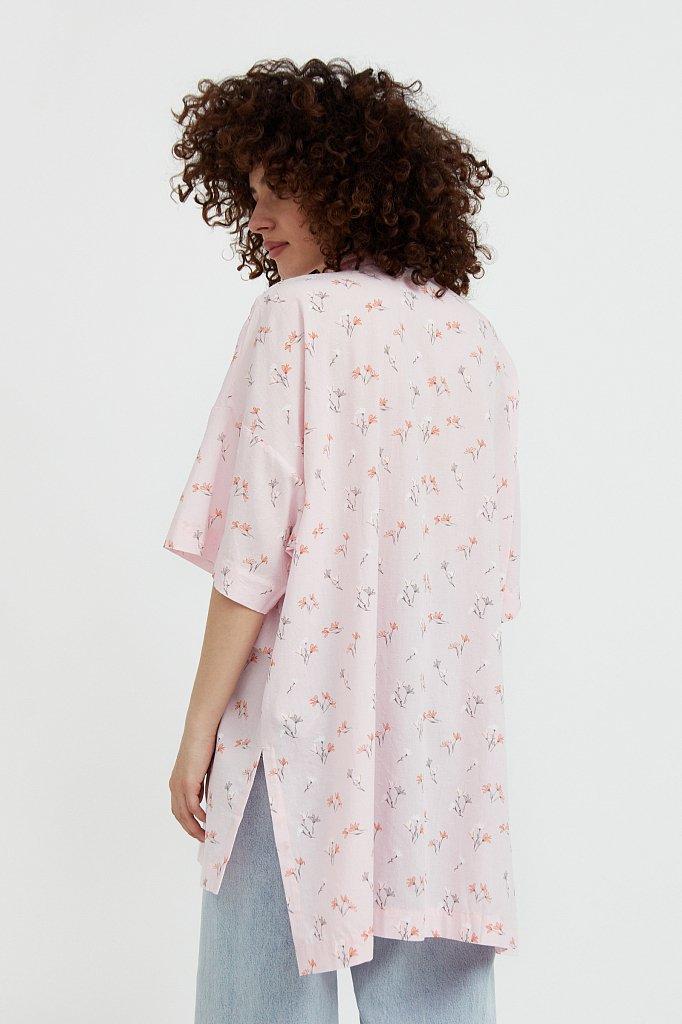 Рубашка оверсайз из хлопка, Модель S21-11019, Фото №4