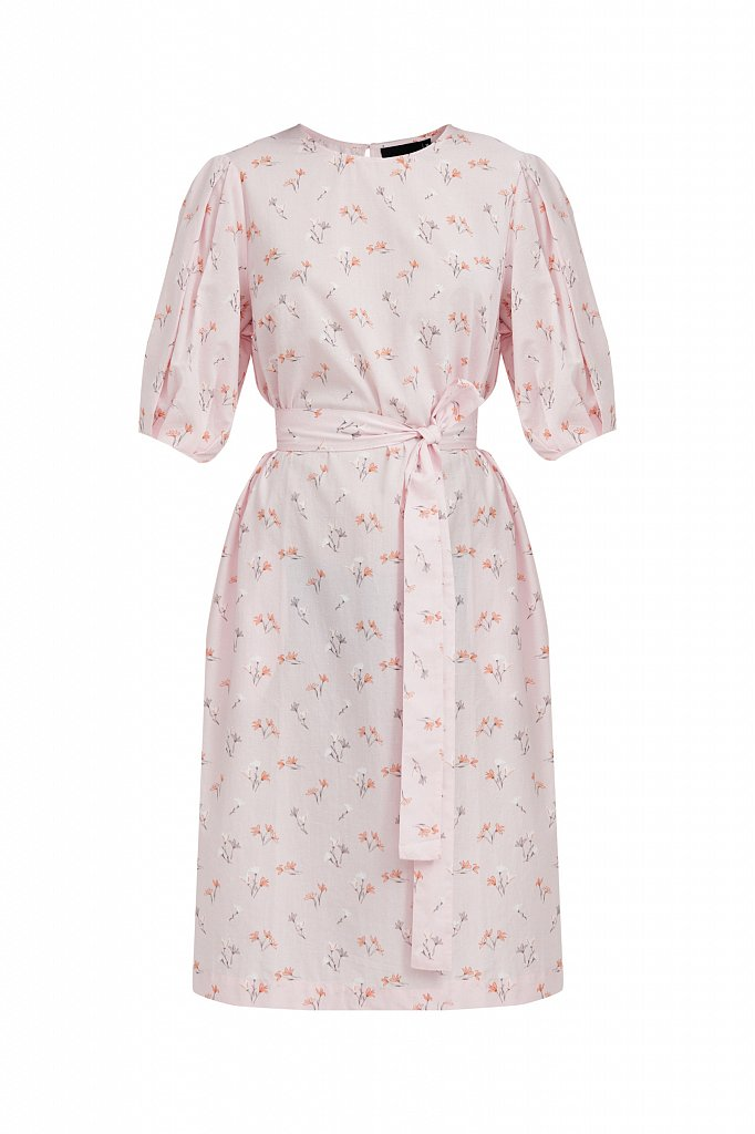 Хлопковое платье с цветочным принтом, Модель S21-11030, Фото №7