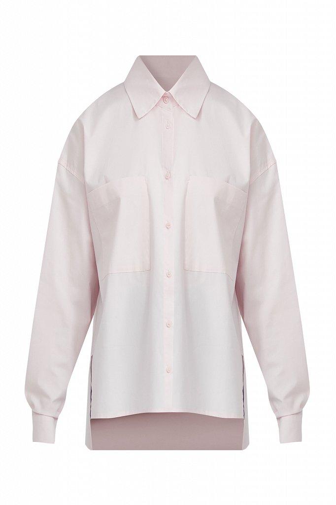Хлопковая рубашка оверсайз, Модель S21-11051, Фото №8