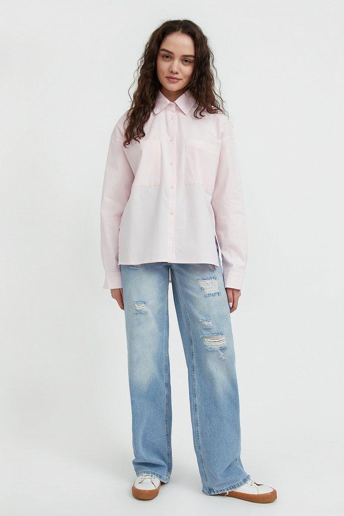 Хлопковая рубашка оверсайз, Модель S21-11051, Фото №2