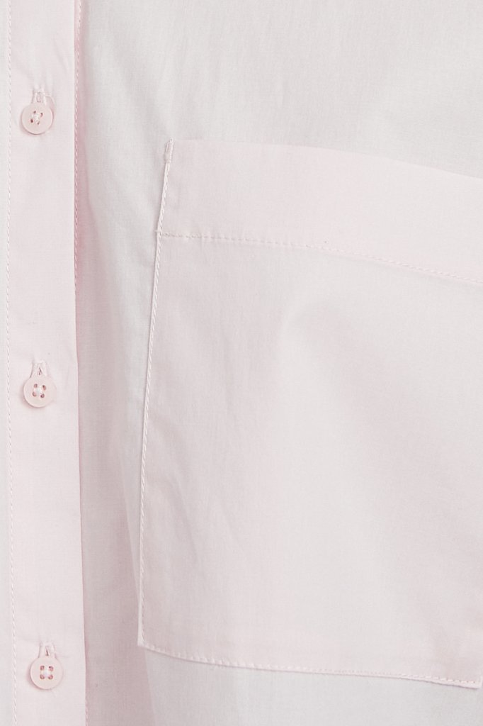 Хлопковая рубашка оверсайз, Модель S21-11051, Фото №6