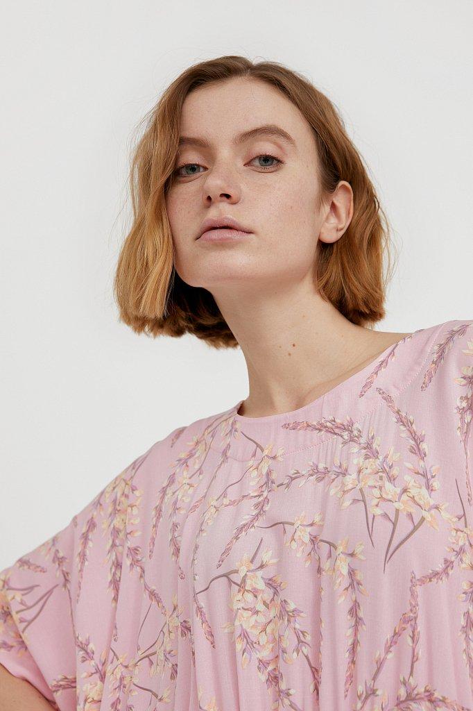 Асимметричное платье с принтом, Модель S21-11065, Фото №6
