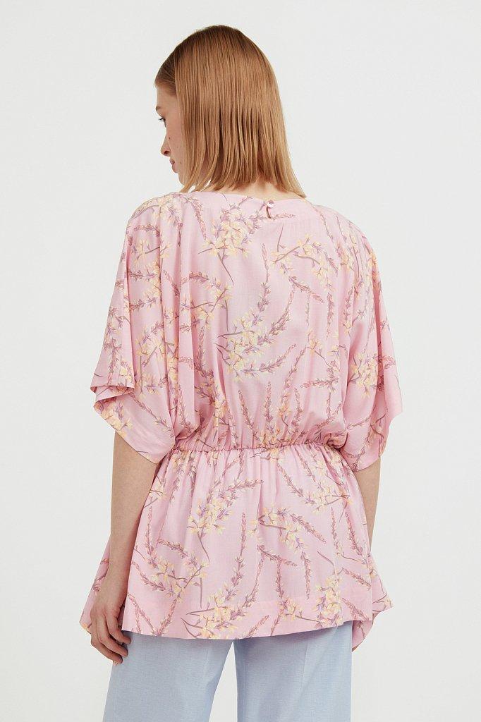 Блуза с цветочным принтом, Модель S21-11067, Фото №5