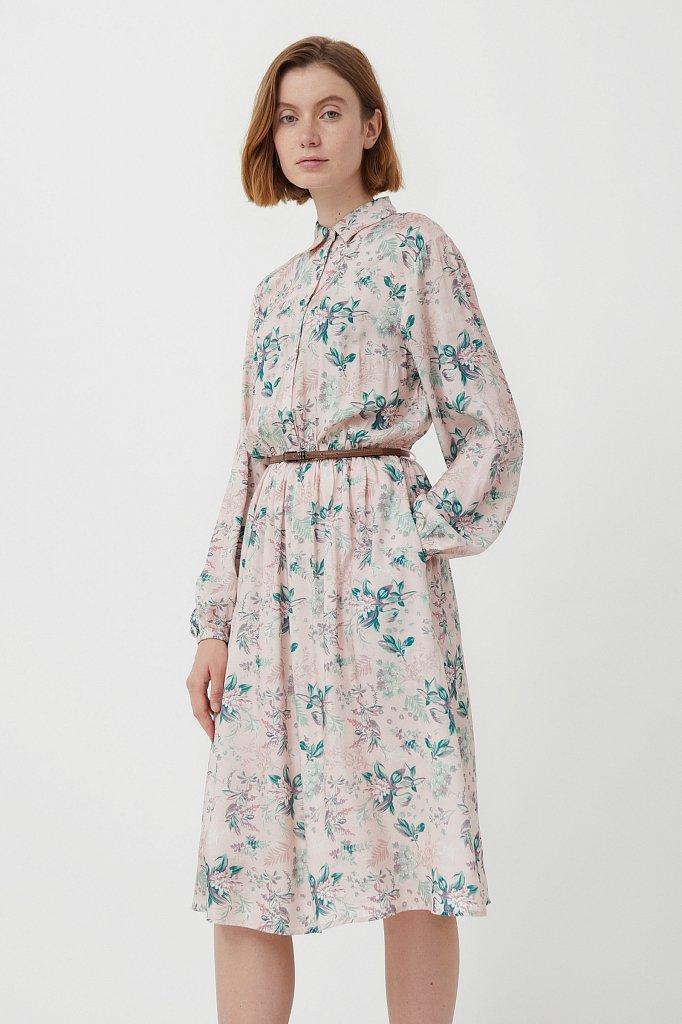 Платье миди с цветочным принтом, Модель S21-12014, Фото №3