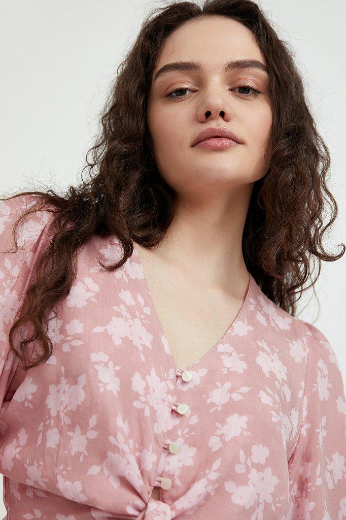 Короткая блуза с цветочным принтом, Модель S21-12020, Фото №6