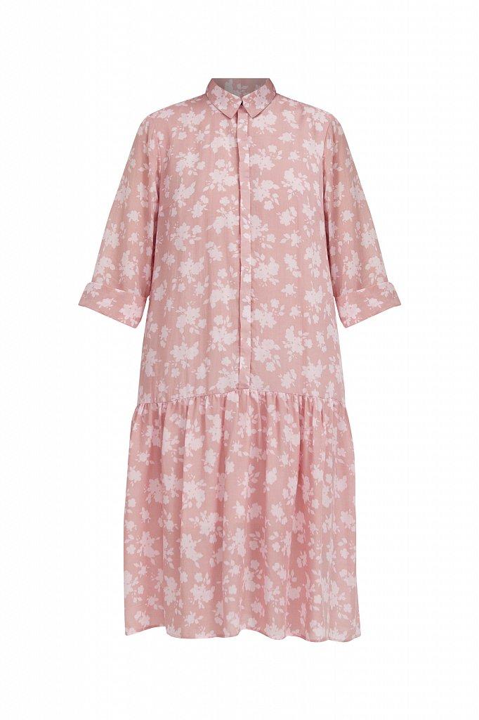 Свободное платье с цветочным принтом, Модель S21-12096, Фото №7