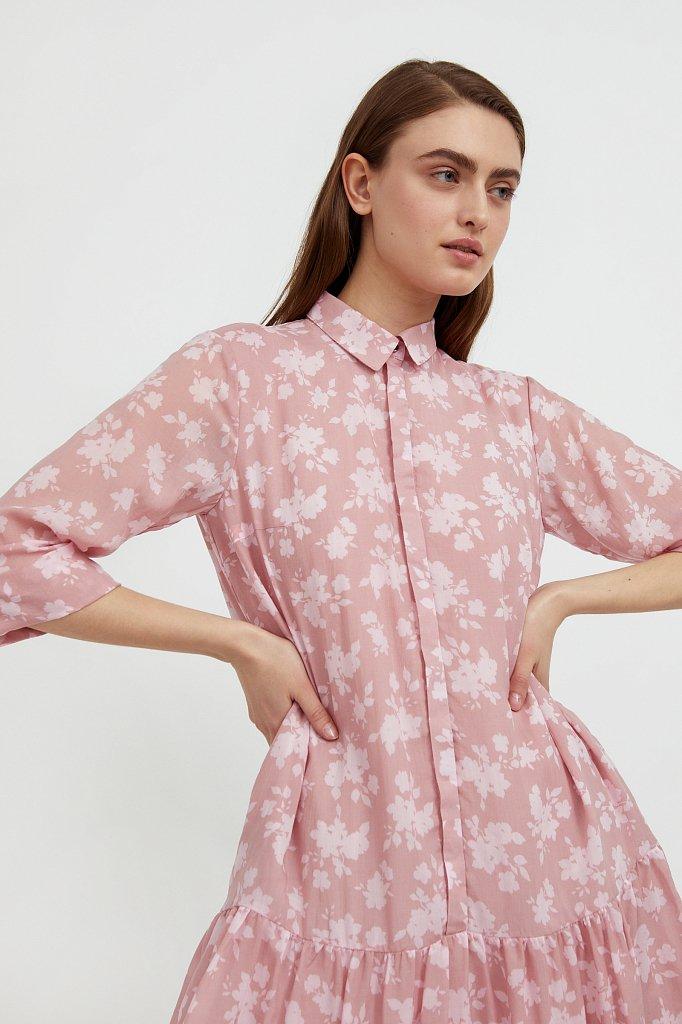 Свободное платье с цветочным принтом, Модель S21-12096, Фото №6