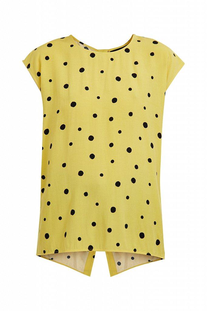 Блуза без рукавов с принтом, Модель S21-110101, Фото №7