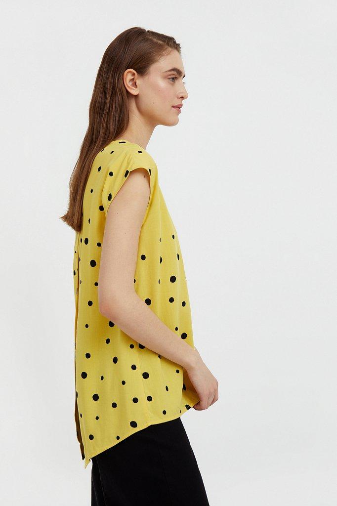 Блуза без рукавов с принтом, Модель S21-110101, Фото №3