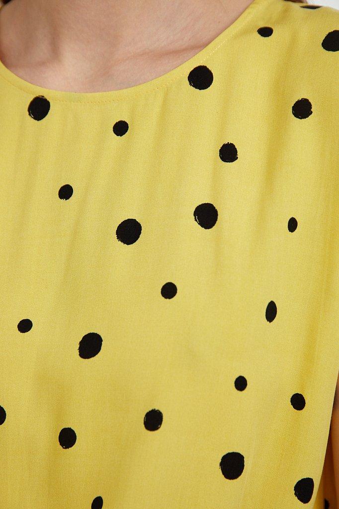 Блуза без рукавов с принтом, Модель S21-110101, Фото №5