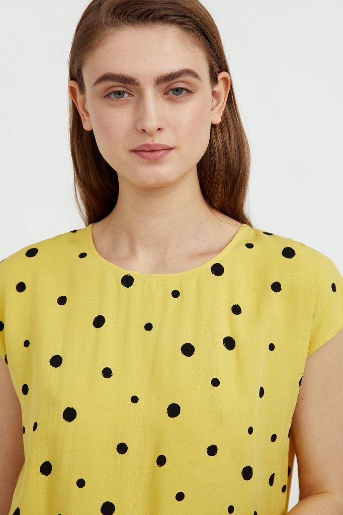 Блуза без рукавов с принтом, Модель S21-110101, Фото №6