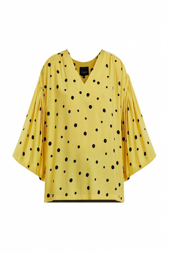 Свободная блуза в горох, Модель S21-11047, Фото №7