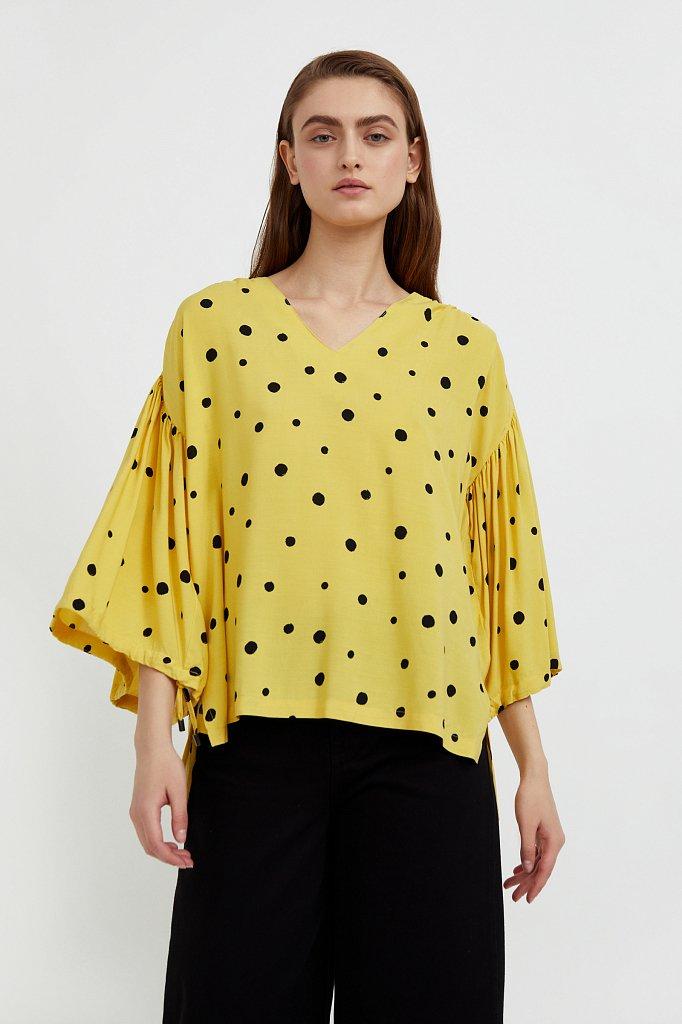 Свободная блуза в горох, Модель S21-11047, Фото №1