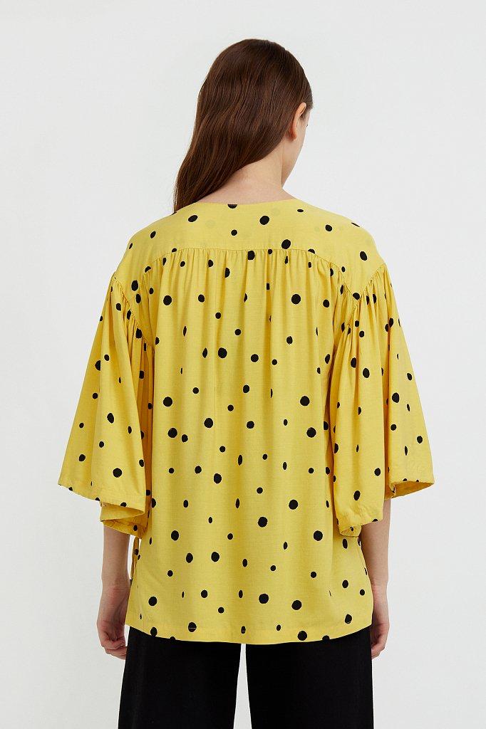Свободная блуза в горох, Модель S21-11047, Фото №4