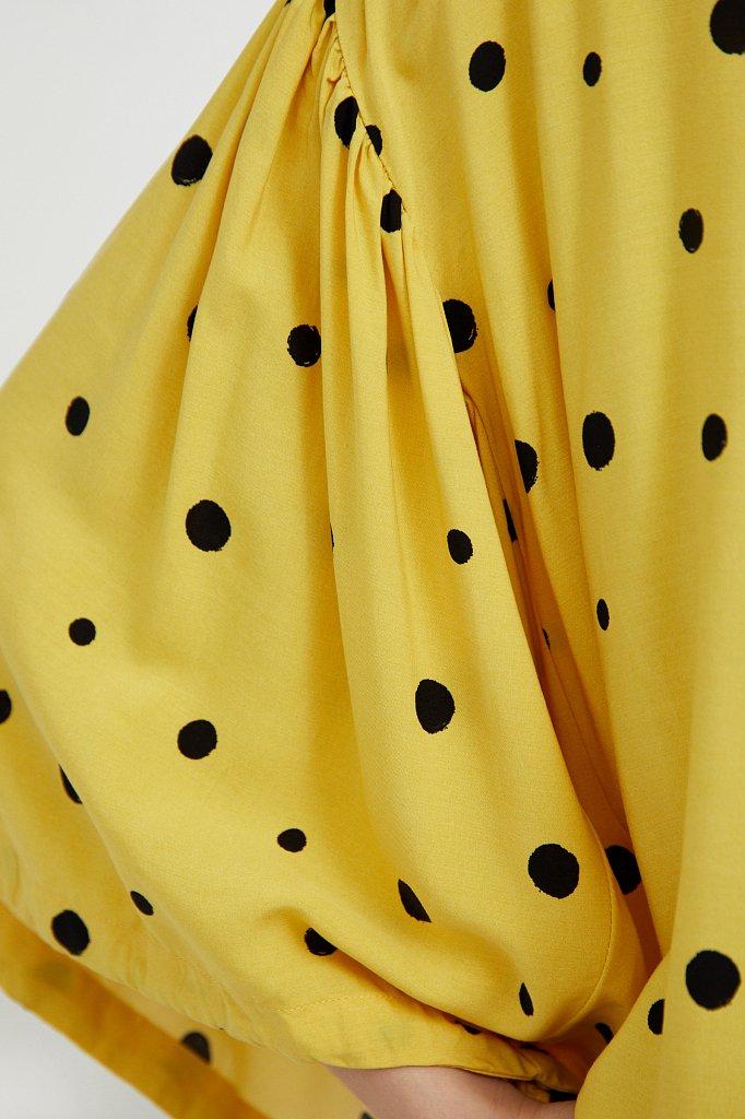 Свободная блуза в горох, Модель S21-11047, Фото №5