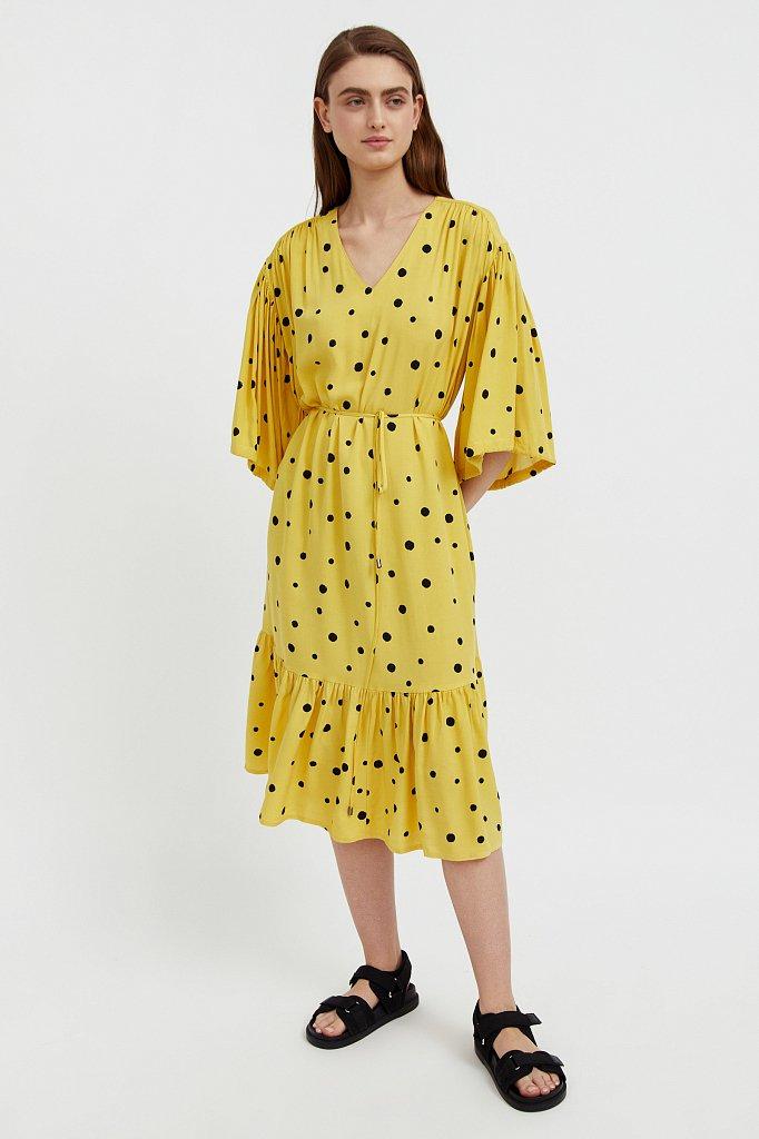 Платье миди в горох, Модель S21-11048, Фото №1