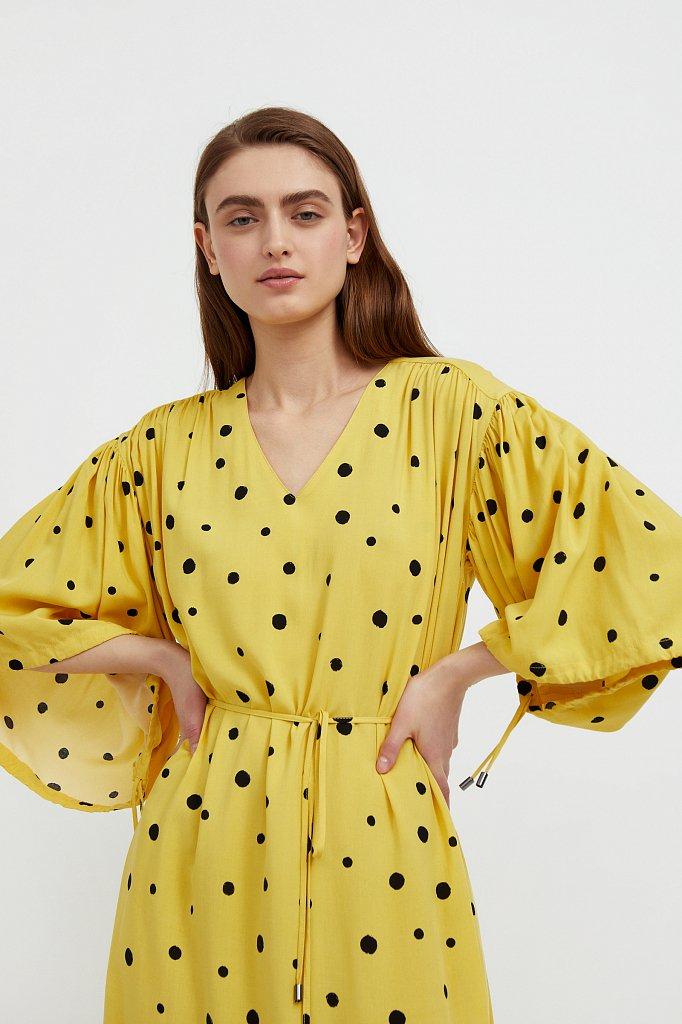 Платье миди в горох, Модель S21-11048, Фото №6