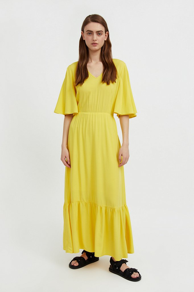 Платье макси из вискозы, Модель S21-14009, Фото №1