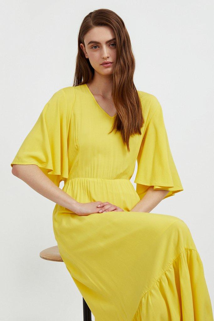 Платье макси из вискозы, Модель S21-14009, Фото №3
