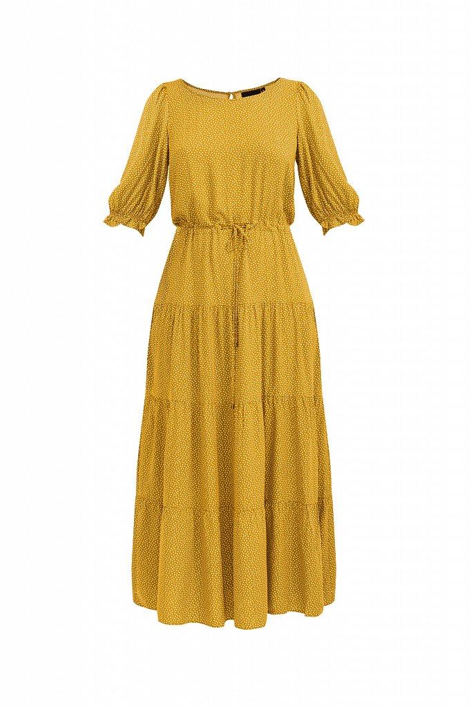 Платье в горох из вискозы, Модель S21-110103, Фото №7