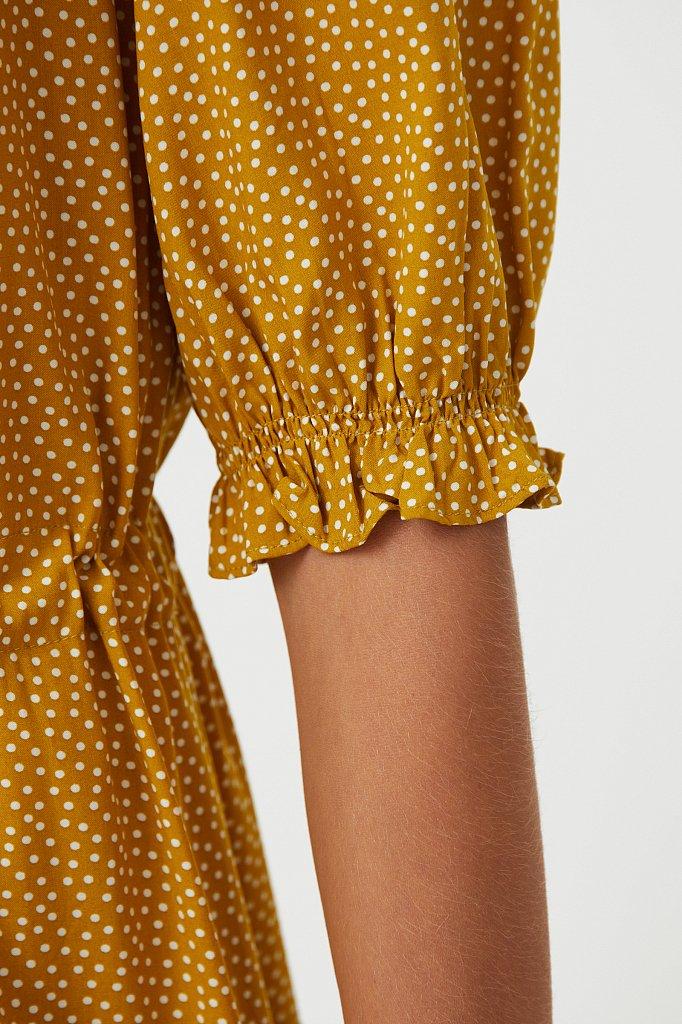 Платье в горох из вискозы, Модель S21-110103, Фото №5