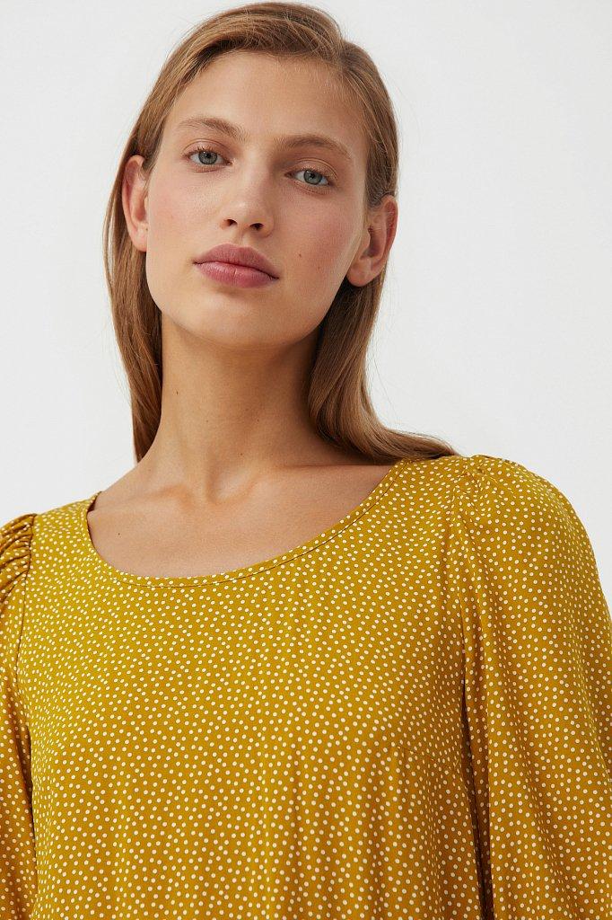 Платье в горох из вискозы, Модель S21-110103, Фото №6