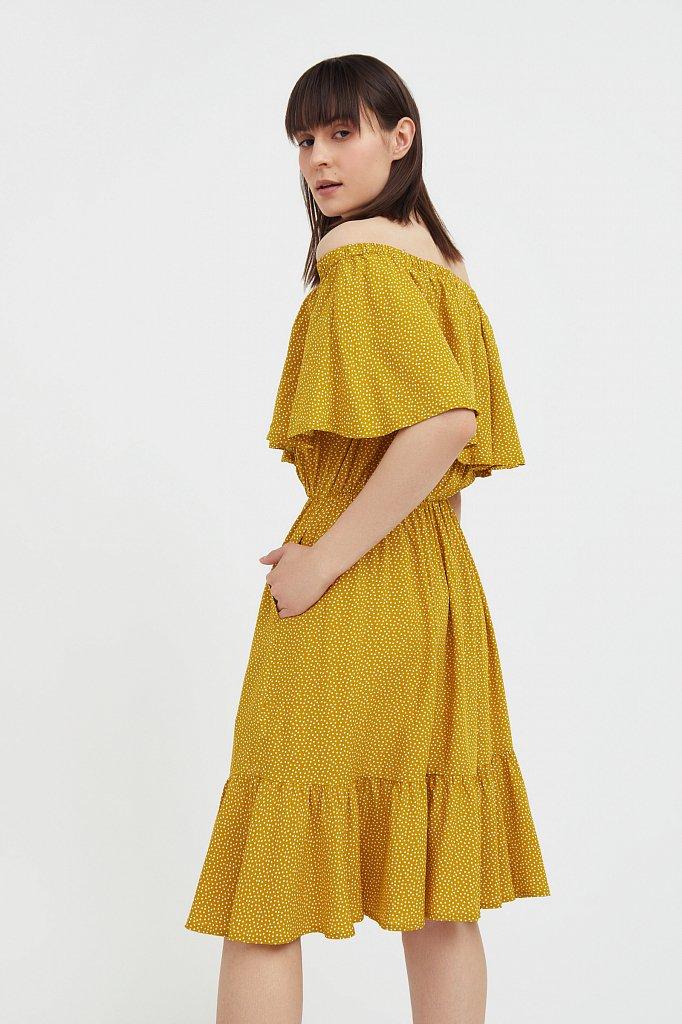 Приталенное платье с принтом, Модель S21-110106, Фото №3