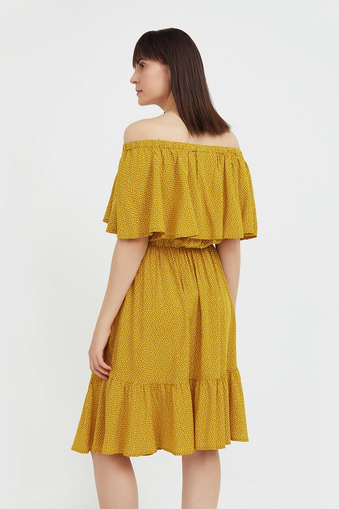 Приталенное платье с принтом, Модель S21-110106, Фото №4