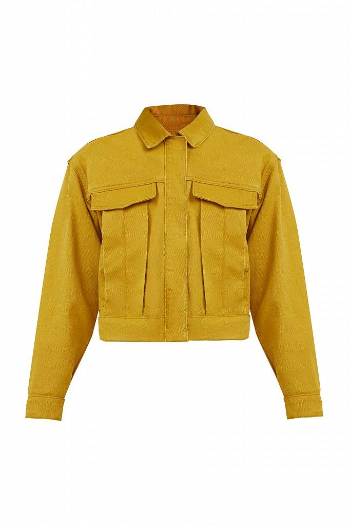 Укороченная куртка из денима, Модель S21-15002, Фото №7