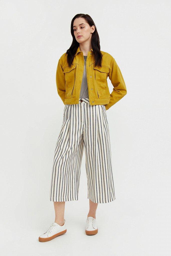Укороченная куртка из денима, Модель S21-15002, Фото №3