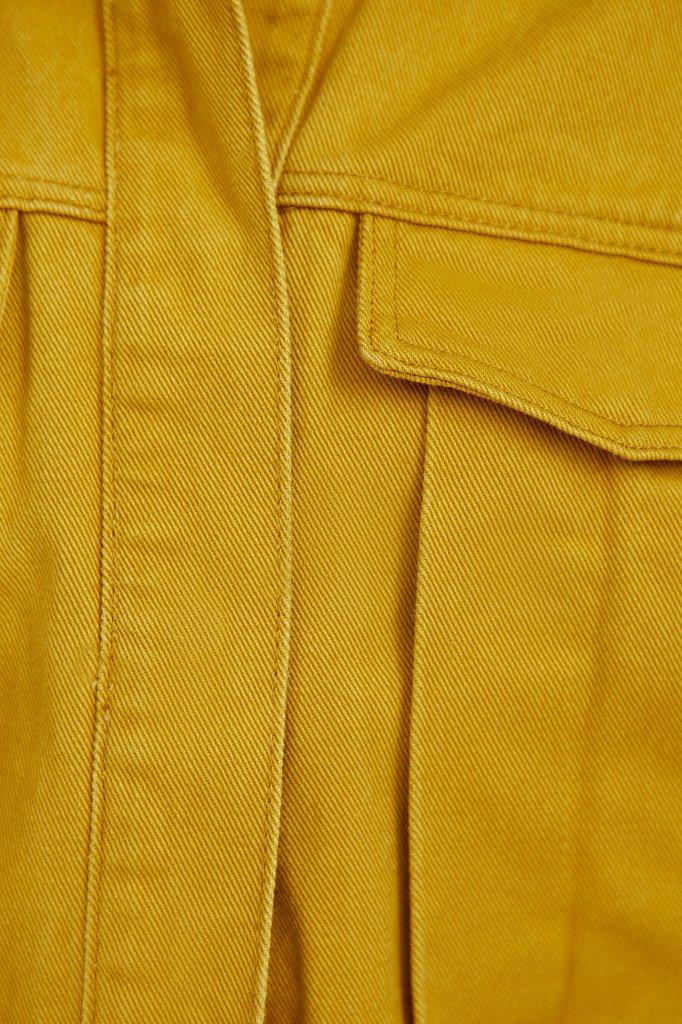 Укороченная куртка из денима, Модель S21-15002, Фото №5