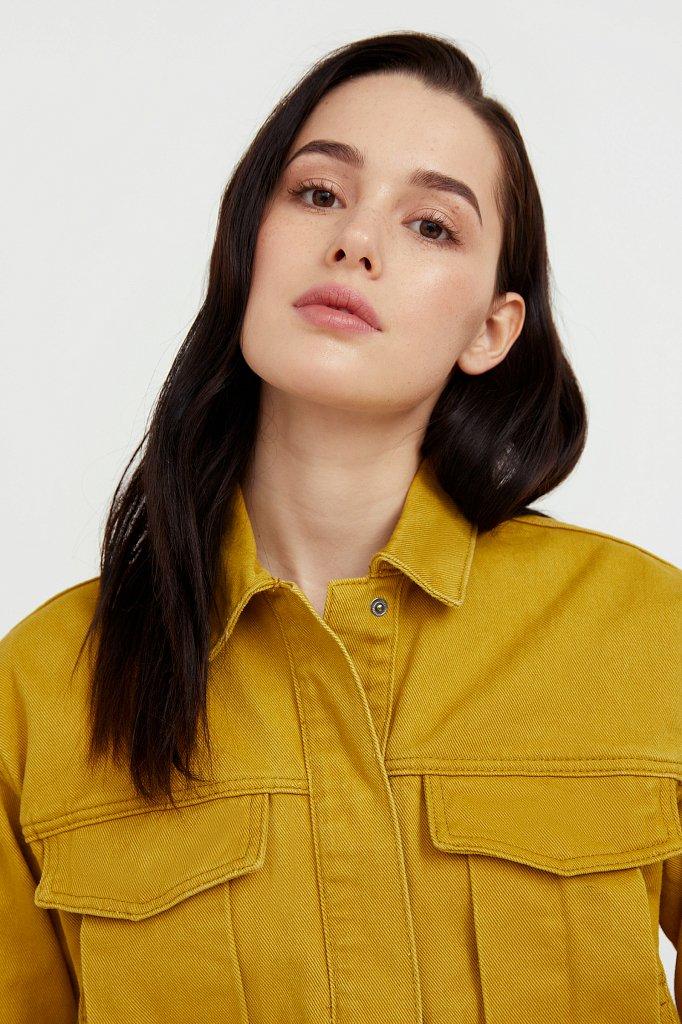 Укороченная куртка из денима, Модель S21-15002, Фото №6
