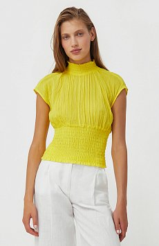 Блуза из жатого хлопка S21-11099