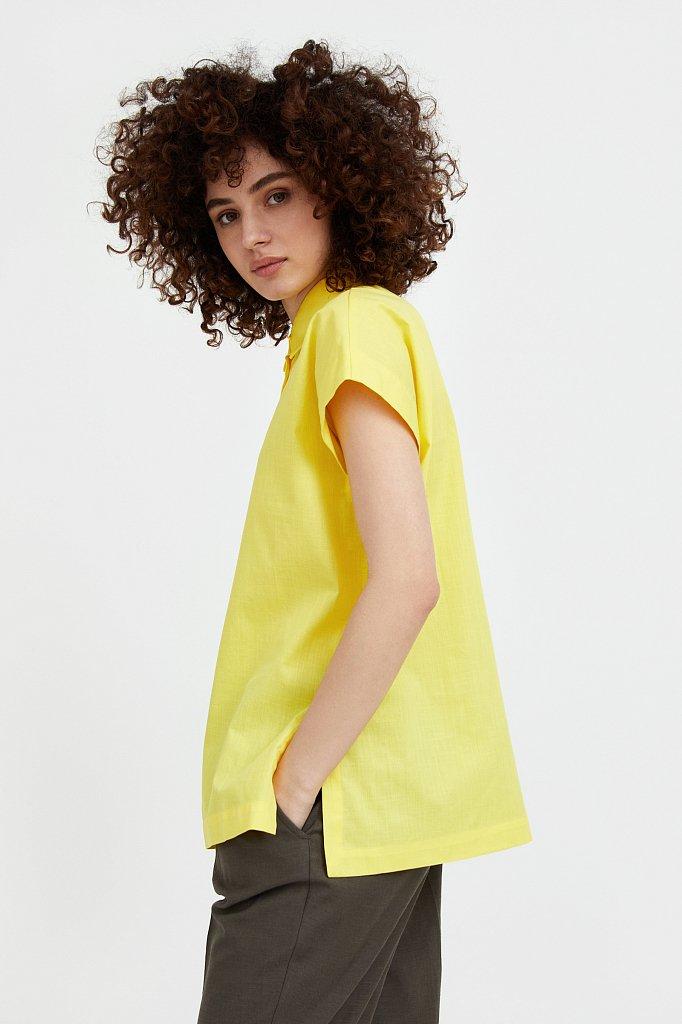 Хлопковая рубашка с короткими рукавами, Модель S21-11005, Фото №1