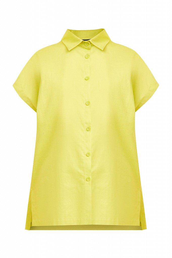 Хлопковая рубашка с короткими рукавами, Модель S21-11005, Фото №7