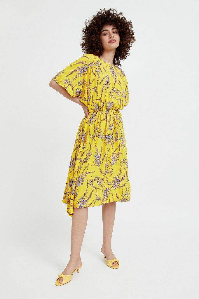 Асимметричное платье с принтом, Модель S21-11065, Фото №2