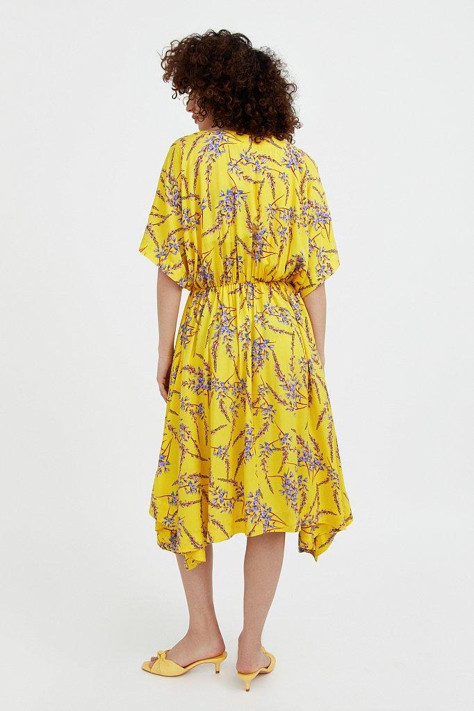 Асимметричное платье с принтом, Модель S21-11065, Фото №4