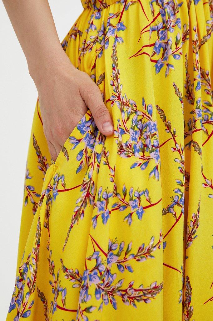 Асимметричное платье с принтом, Модель S21-11065, Фото №5