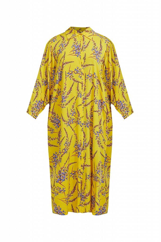 Платье-рубашка с растительным принтом, Модель S21-11066, Фото №7