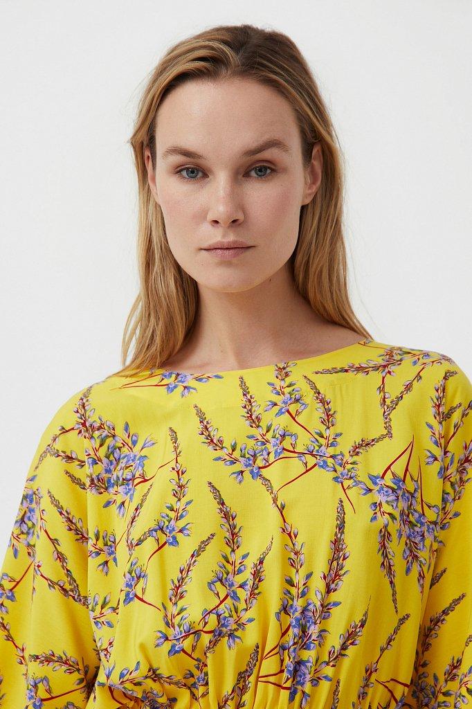 Блуза с цветочным принтом, Модель S21-11067, Фото №6