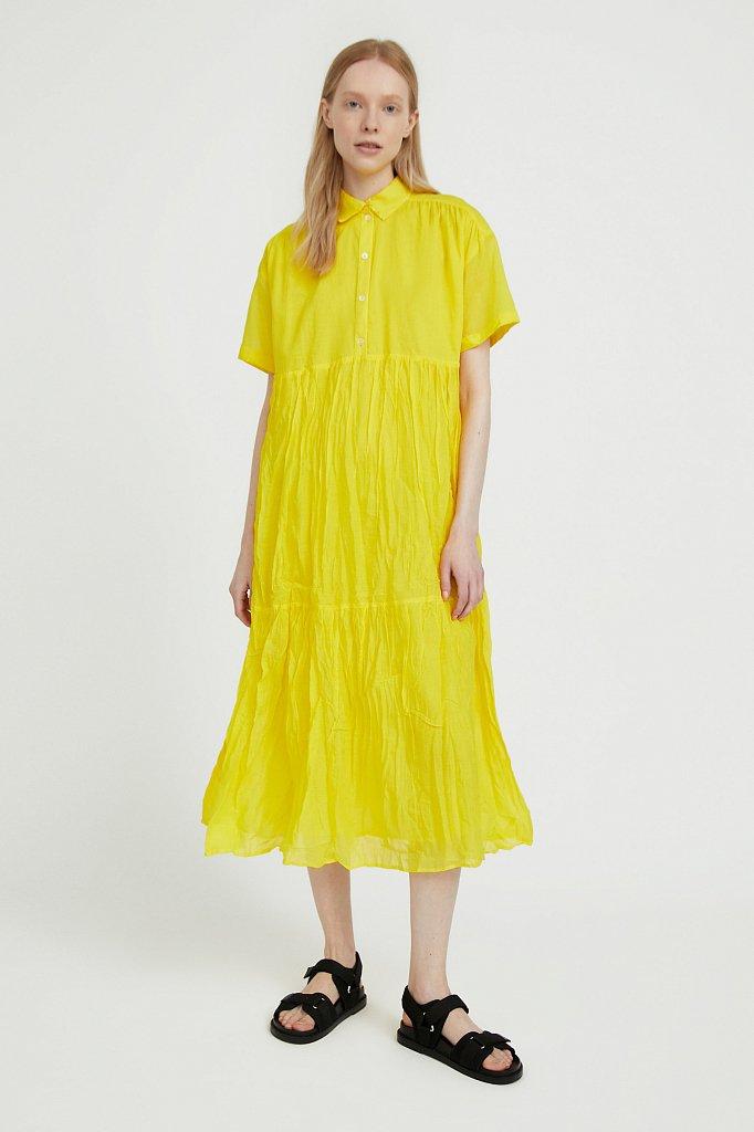 Платье миди из хлопка, Модель S21-11069, Фото №2