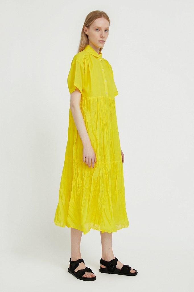 Платье миди из хлопка, Модель S21-11069, Фото №3