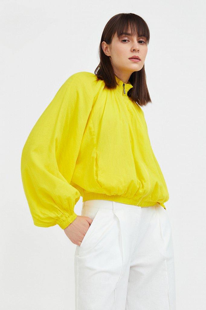Хлопковая куртка на молнии, Модель S21-11097, Фото №1