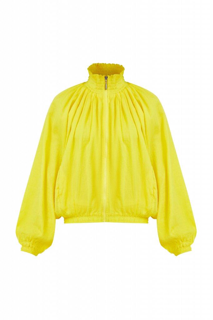 Хлопковая куртка на молнии, Модель S21-11097, Фото №7