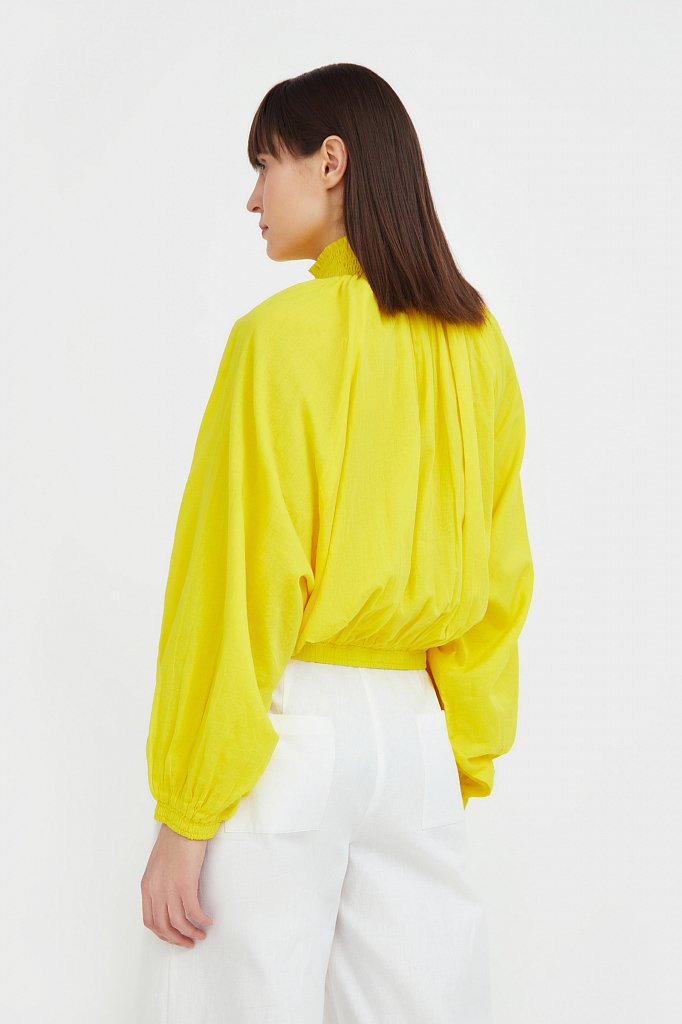 Хлопковая куртка на молнии, Модель S21-11097, Фото №4
