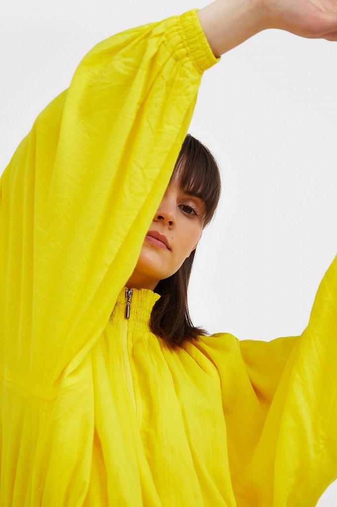 Хлопковая куртка на молнии, Модель S21-11097, Фото №6
